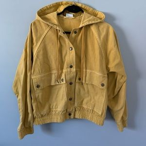 BDG Urban Outfitters Jacket Bomber Mustard Yellow